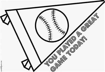 Baseball Coloring Printable Sports Team Penant Pennant