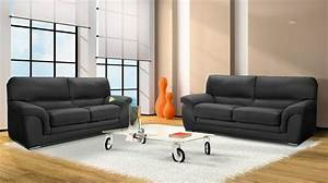 canape 3 places en cuir pas cher With canape cuir marque italienne