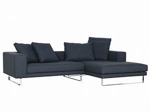 Upholstered Seater Fabric Sofa With Chaise Longue Linnea
