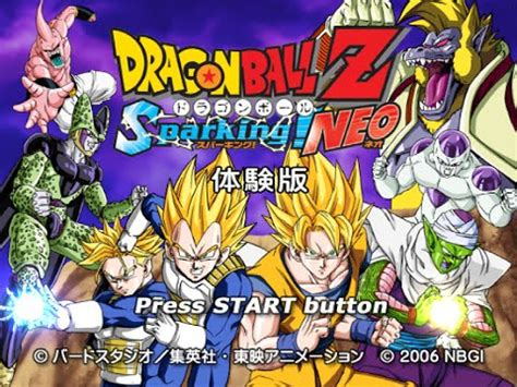 ps dragon ball  sparking neo trial version youtube