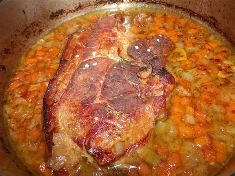 rouelle de porc confite au four la taverne de ginia