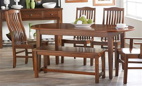 Simply Dining Solid Cherry Table And 4 Chairs  Dining Room