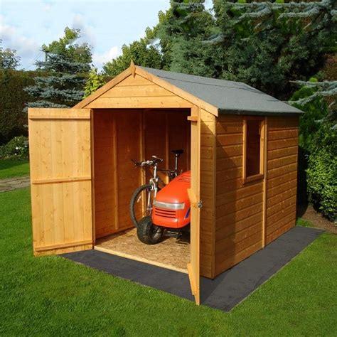 6x8 Wood Garden Shed by Shire Warwick Shiplap Apex Shed 6x8 Garden