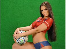 Sexy Girl Body Painting of World Cup Jersey 6 Wallcoonet