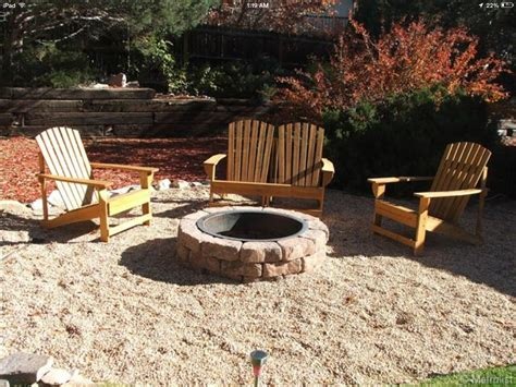 pea gravel patio adirondacks pit large cobble