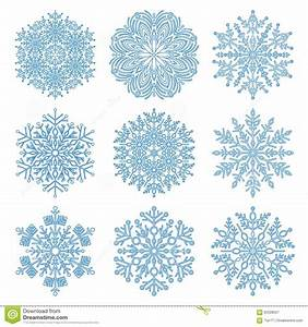 Set Of Vector Snowflakes Stock Vector - Image: 62228507