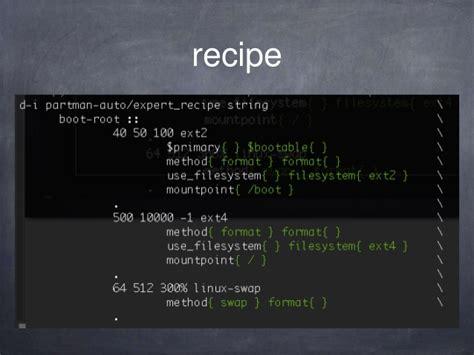 debian preseed lvm recipe