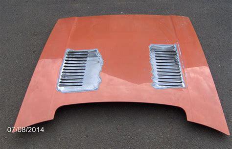 bonnet louvres sports car metal works