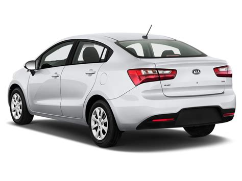image  kia rio  door sedan auto lx angular rear