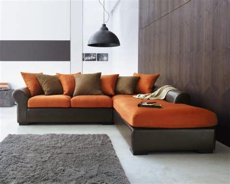 deco interieur murale 12 tapis gris salon canap233 angle marron orange coussins