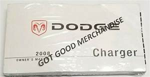 2008 Dodge Charger Owners Manual Guide Sxt R  T S V8 5 7l