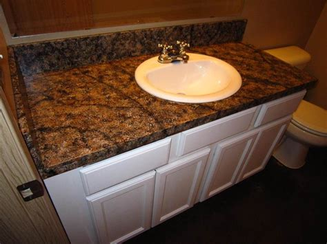 Kitchen Counter Paint Kits by Diy Faux Granite Countertop Without A Kit For 60