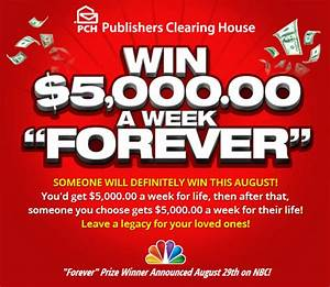 Enter to WIN in the Publishers Clearing House Sweepstakes