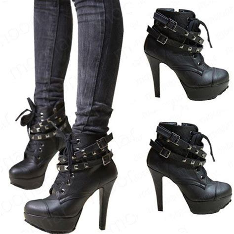 moto style boots heeled black moto ankle boots love this is me a tough