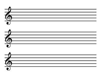 This is free blank music staff paper that you can download, print, and use. Blank Sheet Music | Landscape, Kid sizes treble clef