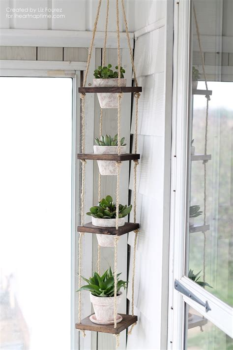 diy hanging planter diy vertical plant hanger i nap time