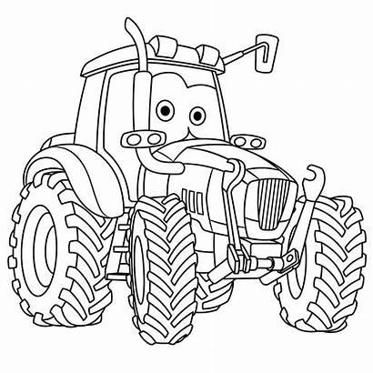 Coloring Tractor Colouring Cars Trucks Moving Tracteur