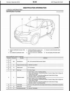 Nissan Rogue Hybrid T32 2017 Service  U0026 Repair Manual Wiring