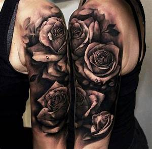 Rosen Tattoos Schwarz : rosen schwarz wei wassertropfen arm tattoos pinterest wassertropfen schwarz wei und rose ~ Frokenaadalensverden.com Haus und Dekorationen