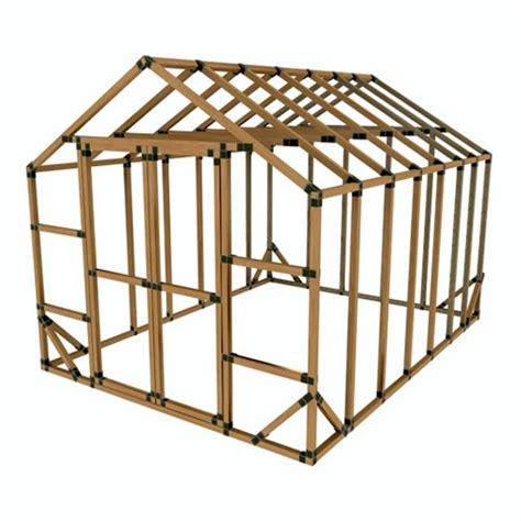Shed Bracket Kit by 10x14 E Z Frame Greenhouse Or Storage Shed Kit