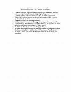 Continental Drift And Plate Tectonics Study Guide