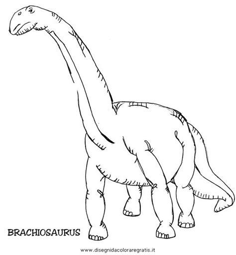 disegno brachiosauro animali da colorare