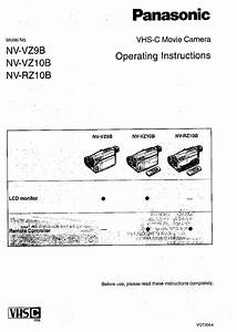 Panasonic Nv Rz 10 Operating Instructions Manual Pdf