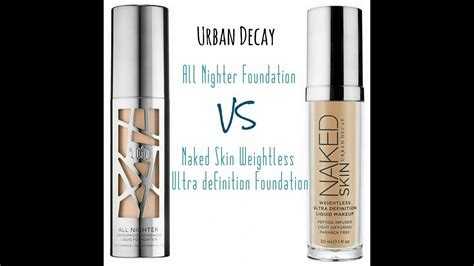 review urban decay foundation naked skin   nighter