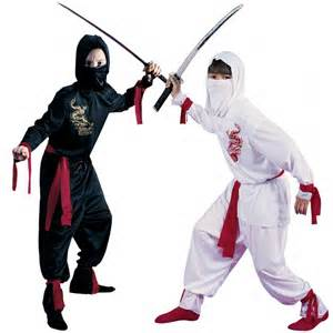 Black and White Ninja Costume