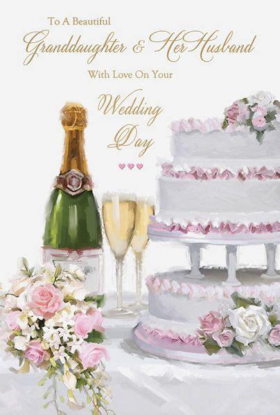 granddaughter husband wedding day card