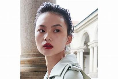 Makeup Week Ss Looks Slicked Lips Milan