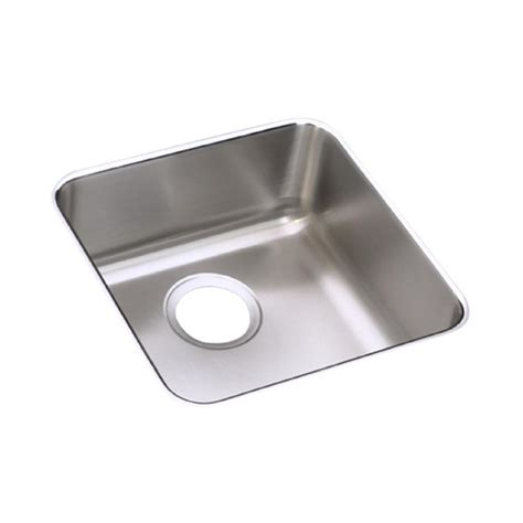 elkay undermount kitchen sink elkay lustertone undermount stainless steel 15 in single 7051