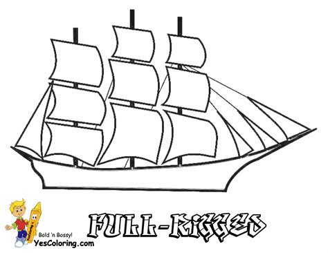 Big Boat Coloring Pages by Sky High Ships Coloring Pages Ship Free Sailing