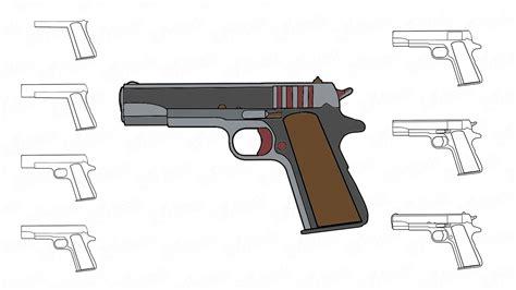Una forma sencilla y rapida de hacer un dibujo de un arma en poco tiempo y de forma facil.musica : Aprende a dibujar una pistola paso a paso