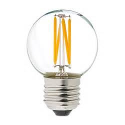 G16.5 LED Filament Bulb - 30 Watt Equivalent Globe Bulb - Dimmable - 285 Lumens, Warm White