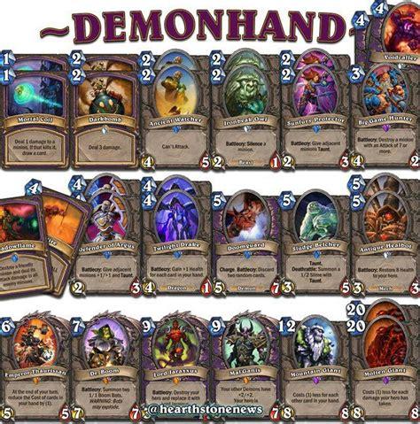 demon handlock deck hearthdecko pinterest demons and