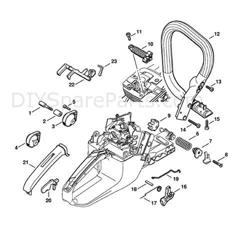 Stihl Ms 341 Chainsaw Ms341 Z Parts Diagram Av System