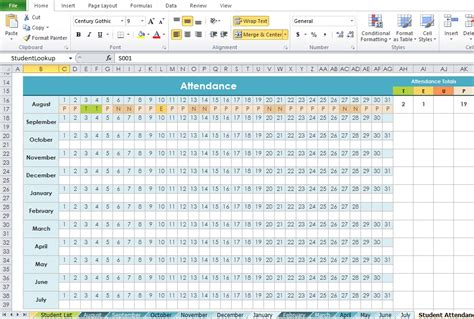 attendance template excel professional daily attendance format template excel tmp
