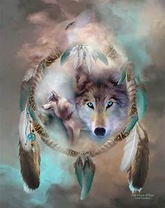 Dream Catcher Series: Wolf-Dreams Of Peace