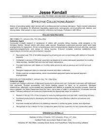 debt collector resume brilliant and effective debt collector resume sles vntask