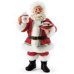 santa claus with christmas cookies possible dreams figurine 4038527 flossie s gifts and
