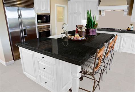 Outdoor Kitchen Countertops Ideas - what color granite goes with white cabinets