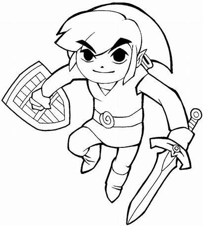 Zelda Link Legend Draw Cartoon Drawing Coloring