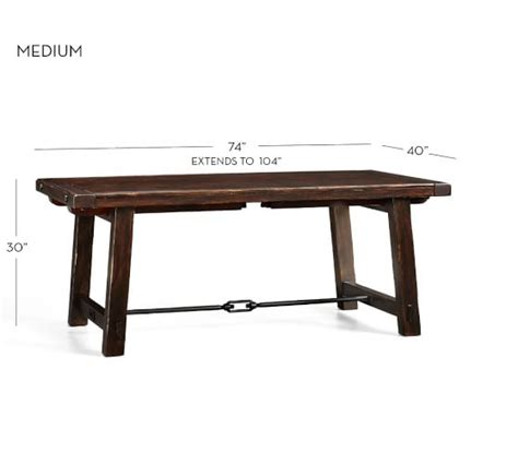 pottery barn kirkwood dining table benchwright extending dining table alfresco brown