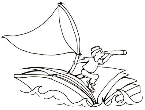 Boat Line Art by Sailboat Line Drawing Clipart Best