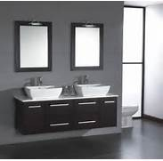 For Modern Bathrooms Two Matching Glass Or Stone Vessel Sinks Set Mirrored Makeup Vanity Table Home Design Ideas Bathroom Vanities Image Of Modern Vanities For Small Bathrooms Bathroom Vanities And Sink Consoles Other Vanities Bath Modern Small