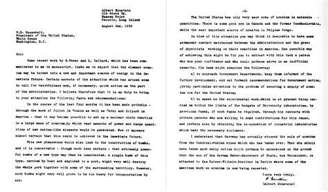Einstein–szilárd Letter