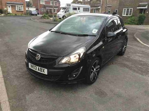 vauxhall corsa black 2013 vauxhall corsa black edition car for sale