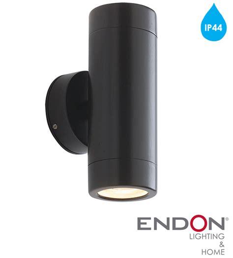 endon odyssey ip44 2 light outdoor wall light satin