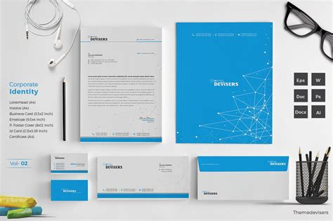 corporate identity stationery templates creative market